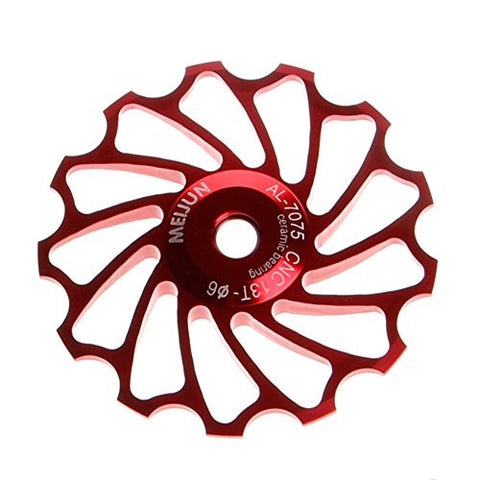 Stebcece 13T MTB Ceramic Bearing Jockey Wheel Pulley Road Bicycle Bike Rear Derailleur (red)