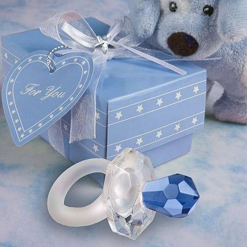 Blue Crystal Pacifier Favors, 17
