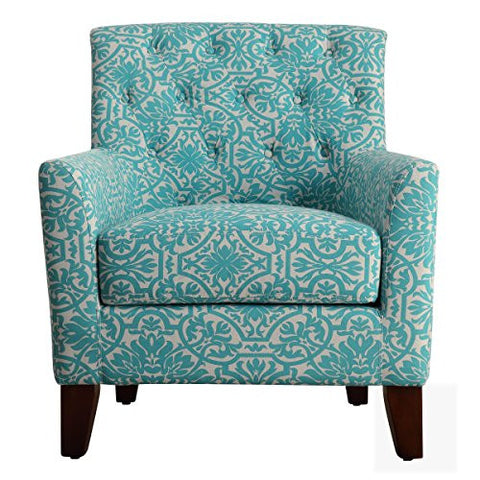 Millbury Home Clara Tufted Armchair, Blue