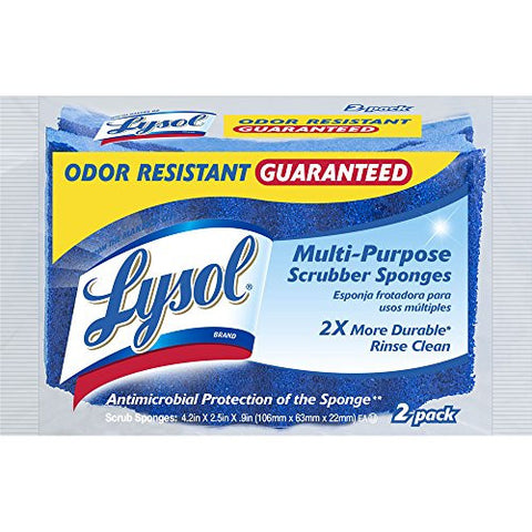 Lysol Multi-Purpose Scrub Sponges, 2-Pack