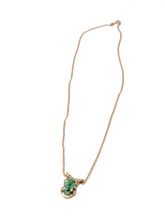Raw Emerald Baby necklace