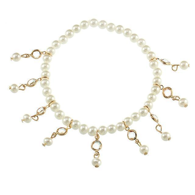 Excessorize Me Anklet Gold Bohemian Imitation Pearl Anklet