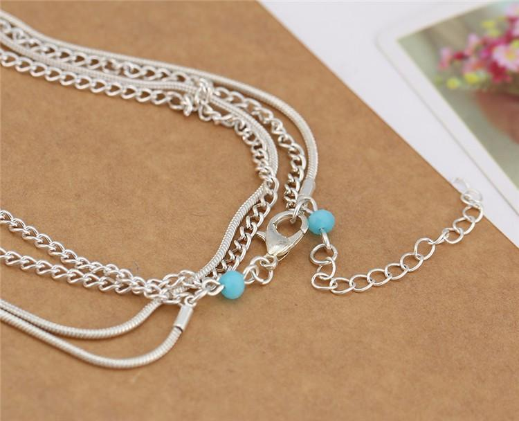 Excessorize Me Anklet Multi Layer Chain Anklet