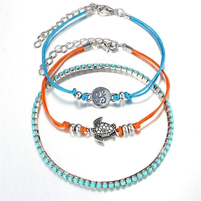 Excessorize Me Bracelet Turtle and Gems Multi Layer Turtle Bracelet