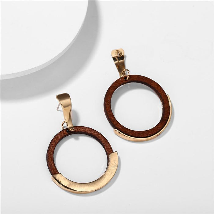 Excessorize Me Earring Circular Wood Earrings