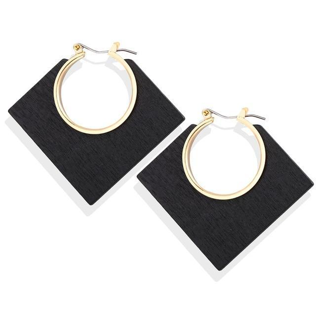 Excessorize Me Earring CS52521 Geometric Wooden Earrings