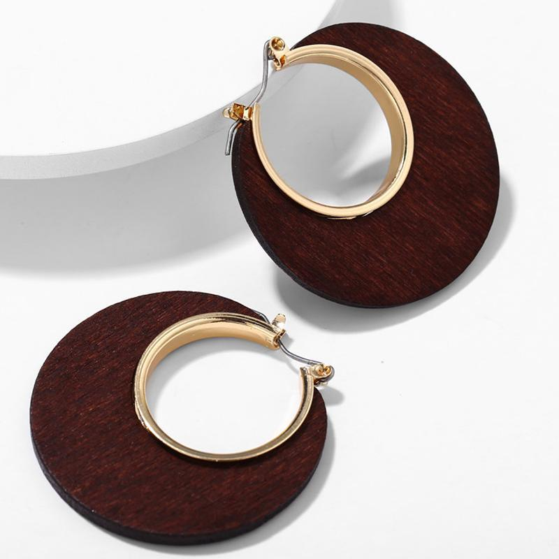 Excessorize Me Earring CS525415 Geometric Wooden Earrings