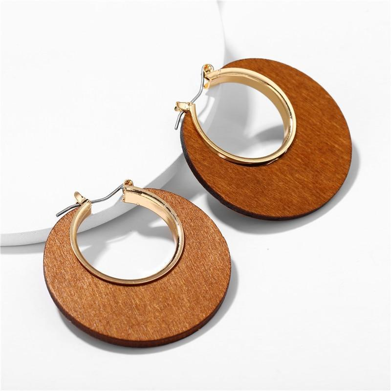 Excessorize Me Earring CS525485 Geometric Wooden Earrings