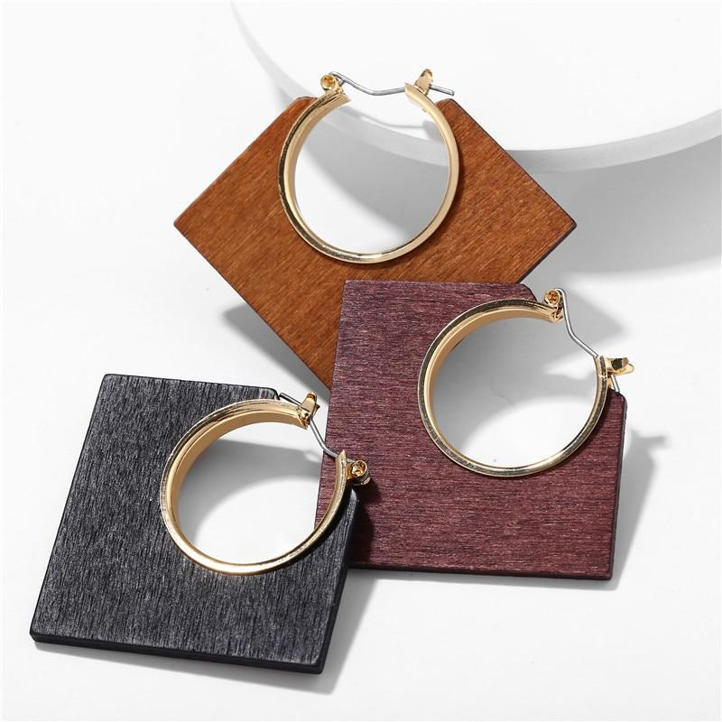 Excessorize Me Earring Geometric Wooden Earrings