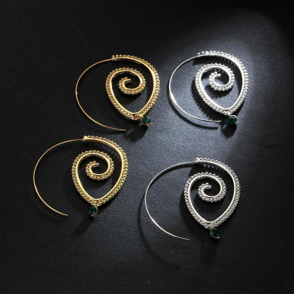 Excessorize Me Earring Green Crystal Swirl Earrings