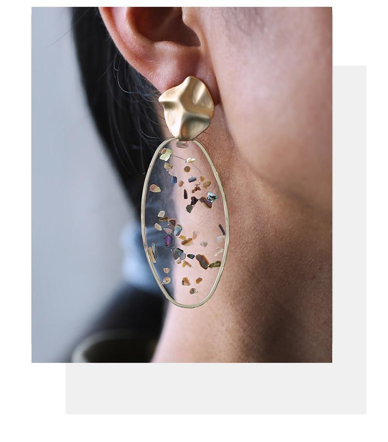 Excessorize Me Earring Oversized Resin Dangle Earrings