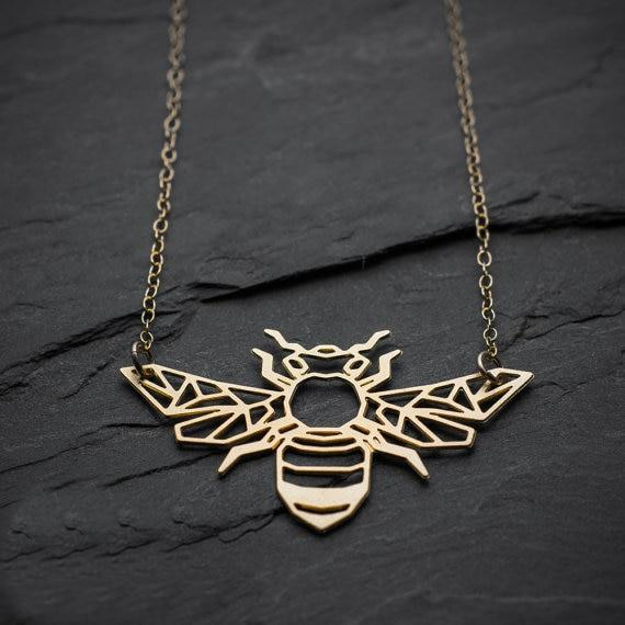 Excessorize Me Necklace Geometric Bee Necklace