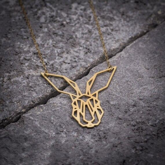 Excessorize Me Necklace Geometric Bunny Rabbit Necklace