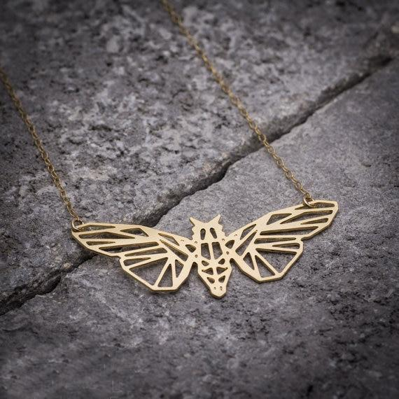 Excessorize Me Necklace Geometric Butterfly Necklace