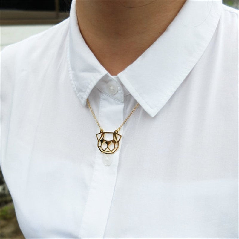 Excessorize Me Necklace Geometric Dog Head Necklace