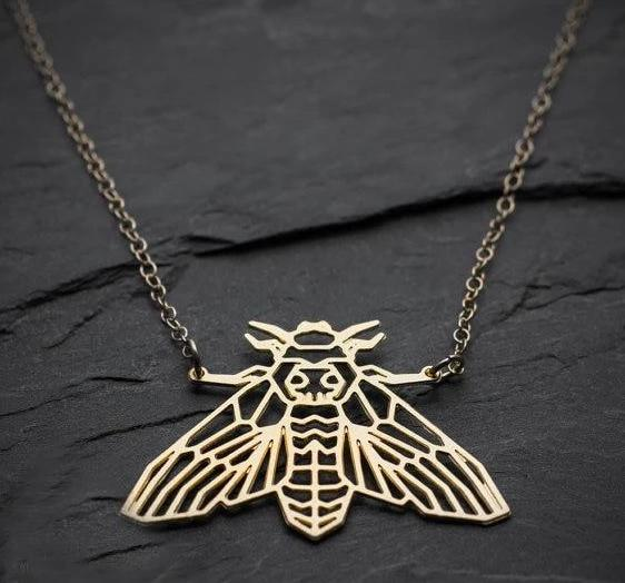 Excessorize Me Necklace Geometric Moth Necklace