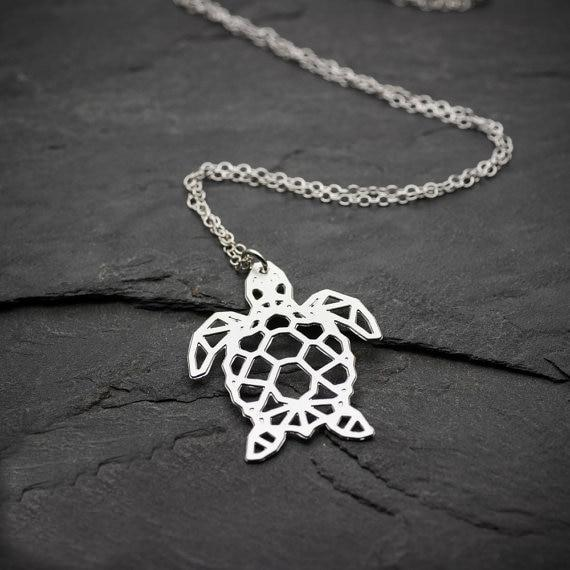 Excessorize Me Necklace Geometric Sea Turtle Necklace
