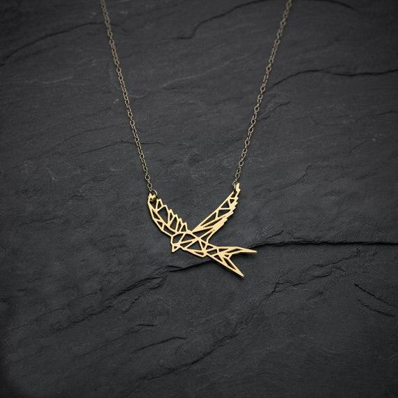 Excessorize Me Necklace Geometric Swallow Necklace