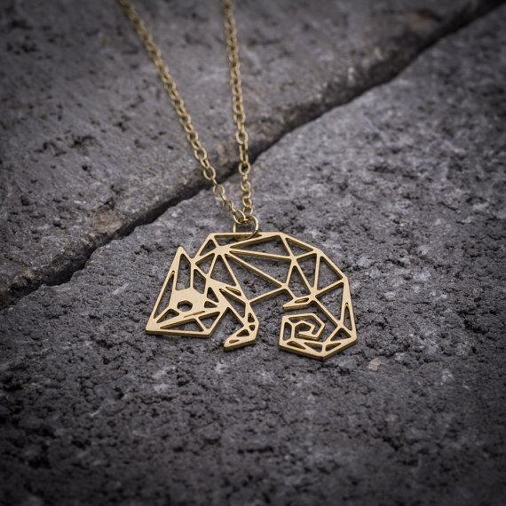 Excessorize Me Necklace Gold Geometric Chameleon Necklace