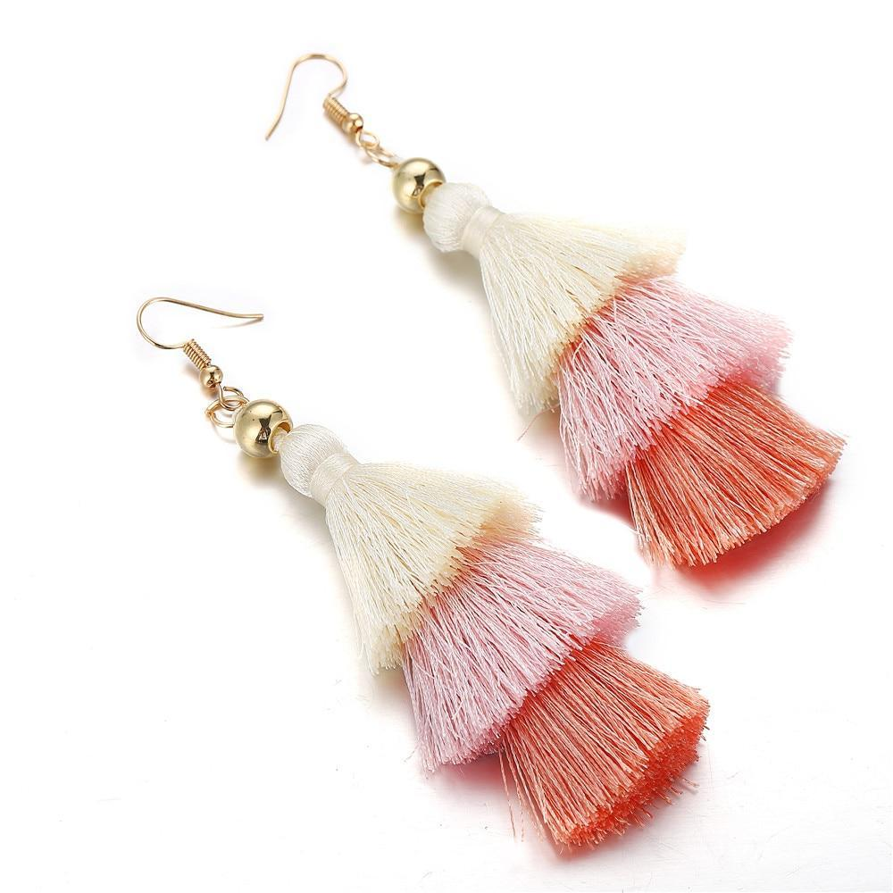 Excessorize Me Necklace Pink Tassel Earrings