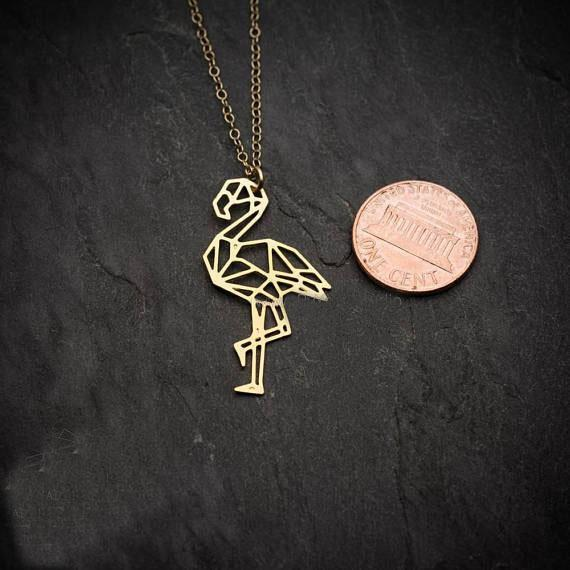 Excessorize Me Necklace Rose gold color Geometric Flamingo Necklace