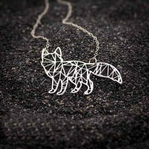 Excessorize Me Necklace Silver color Geometric Fox Necklace