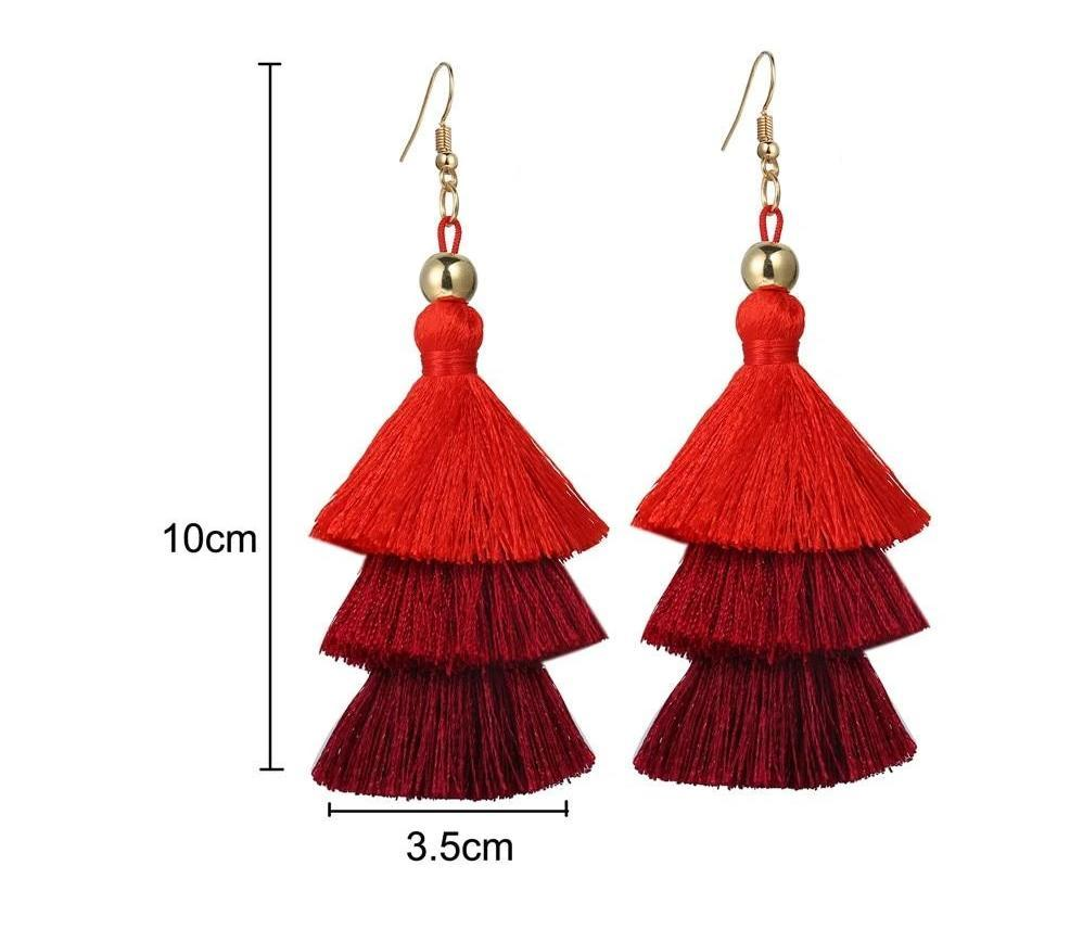 Excessorize Me Necklace Tassel Earrings