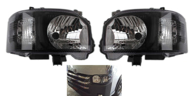 Toyota Hiace Crystal JDM Black Head Lights  2014 - Current