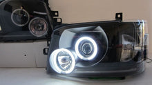 TOYOTA HIACE JDM Black Projector Headlights  with Halo Rings 2004 - 2010