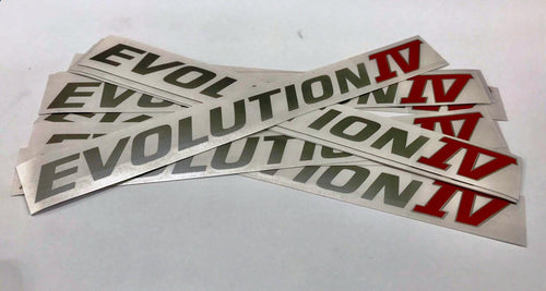 Mitsubishi Evolution 4 (IV)  Side Door Decals CN9A *Limited Stock*