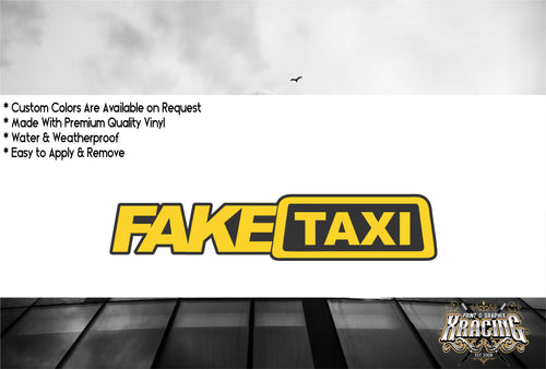 JDM STICKER FAKE TAXI FUNNY CAR STICKER DECAL [XRACING] #169
