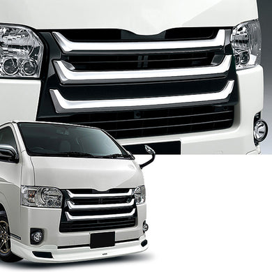 Chrome Front Grille (Narrow-body) Toyota Hiace 200 Series 4 Type 2014 - 2016