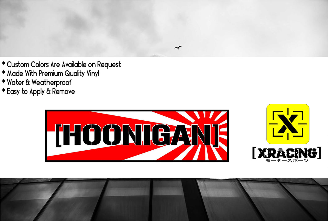 JDM SLAP HOONIGAN WITH RED SUN JAPANESE JDM STICKER CAR STICKER [XRACING] #115