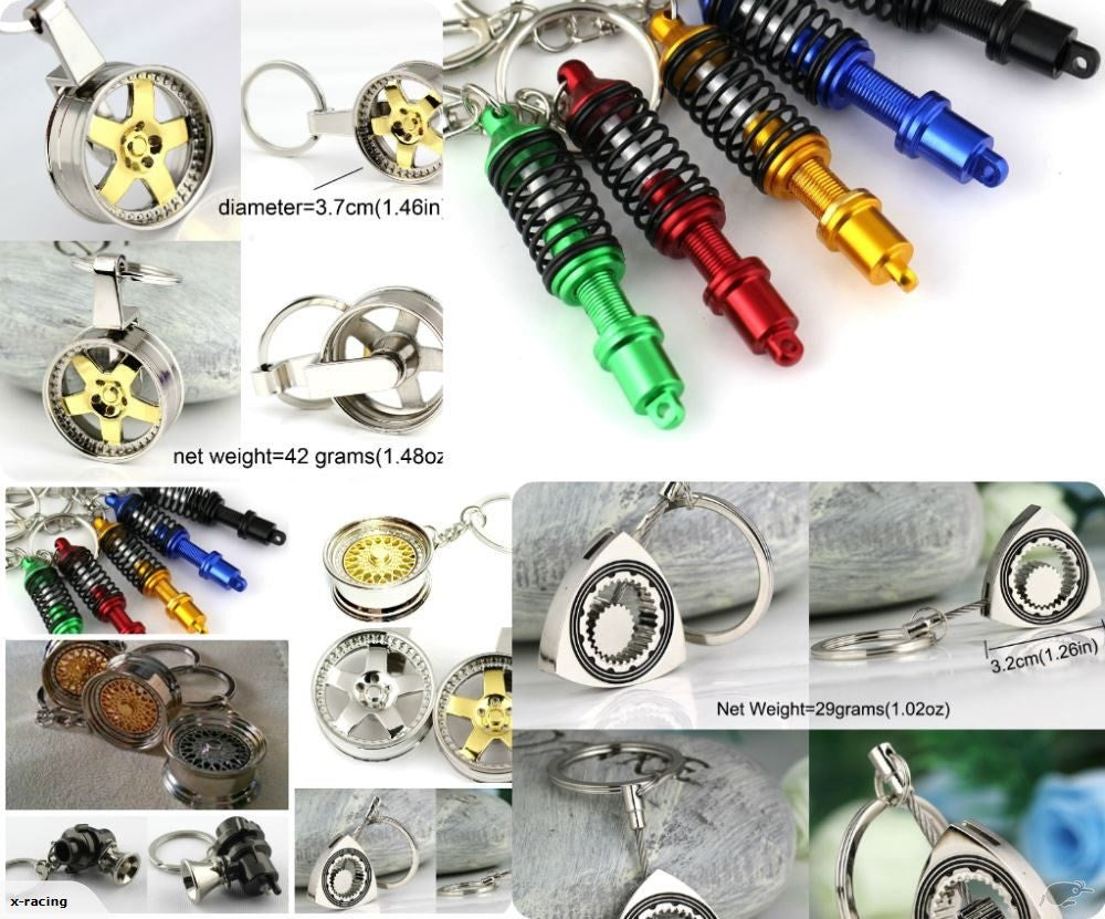 Jdm Keyrings Spinning Wheel Turbo Bbs Wheels Rota Nos Blow Off Valve