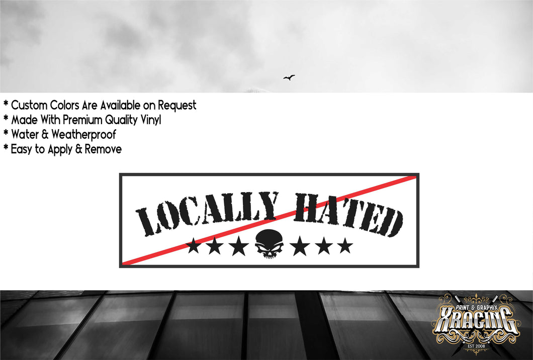 JDM SLAP LOCALLY HATED JDM STICKER FUNNY CAR STICKER DECAL [XRACING] #265