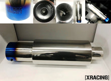 "XRacing High Performance N1 Blue Tip Muffler 3"" Inlet Or 2.5"" Inlet"