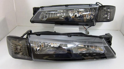 Nissan Silvia S14 240Sx 200sx Kouki  JDM Black Head Lights With Corner lights 1996 - 1998