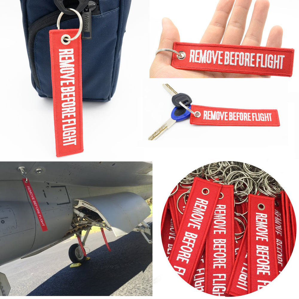 Remove Before Flight Key Tag / Key Ring