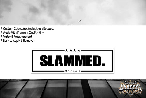 JDM SLAP SLAMMED JDM STICKER FUNNY CAR STICKER DECAL [XRACING] #236