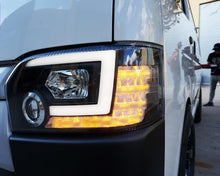 Toyota Hiace Crystal JDM DRL Coplus Style Black Head Lights  2014 - Current