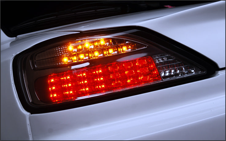 Nissan Silvia S15 JMD Smoked Black LED Tail Lights With Led Indicator