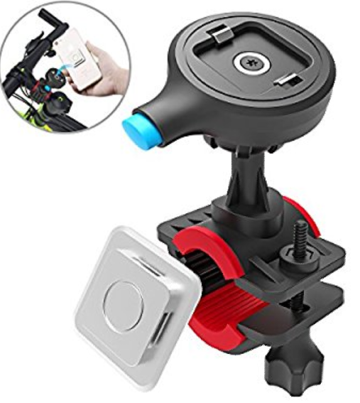 Bike Phone Mount Bicycle Accessories-Cycling Holder for iPhone X/8/7/7 Plus/6s/6s Plus Samsung Galaxy S8/S8 Plus/S7/S7 Edge (One-Second Lock One-Button Release)