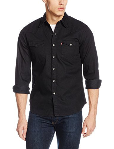 Levi's Men's BARSTOW WESTERN Casual Shirt, Black (BLACK), Large