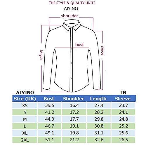 AIYINO Mens Mercerized British Stylish Slim Fit Long Sleeve Plaid Printings Business Checked Casual Dress Turn-down Collar Pure Cotton Button Down Suit Shirt gs Business Checked Casual Dress Turn-down Collar Pure Cotton Button Down Suit Shirt SIZE M