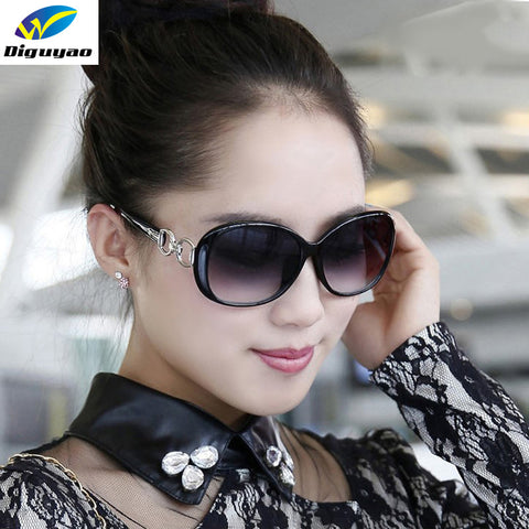 DIGUYAO Vintage Women Classical oversized sunglasses Frame Gradient lens glasses