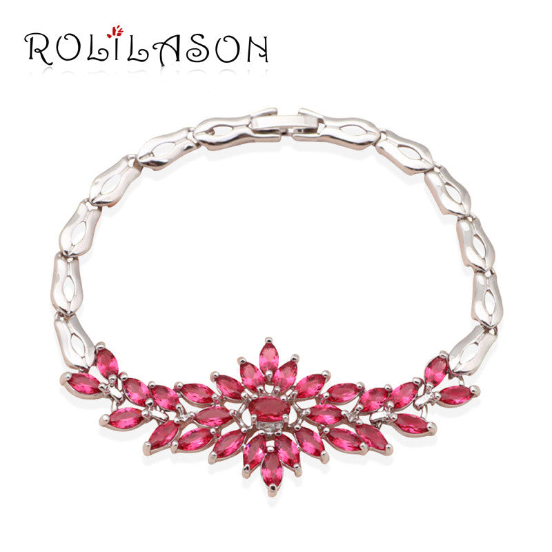 Rose  Zircon overlay  watch charm  Bracelets