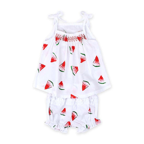 Summer Baby Girl Clothes with Watermelon Printed Toddler Girls Clothing Set Newborn Baby Set Suspenders Tops+Tutu Pants