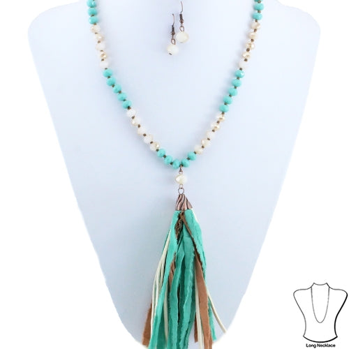 Ash Tassel Necklace set