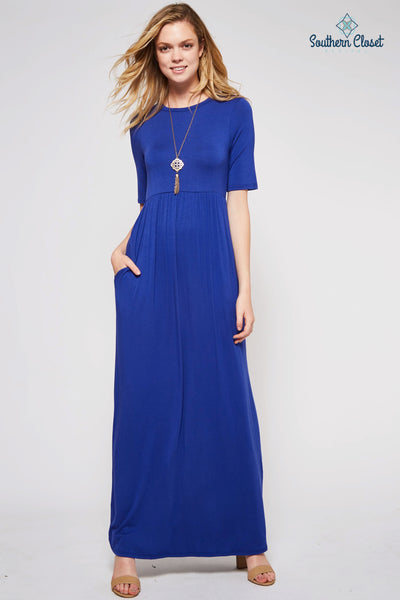 Jayme Maxi Dress Royal Blue