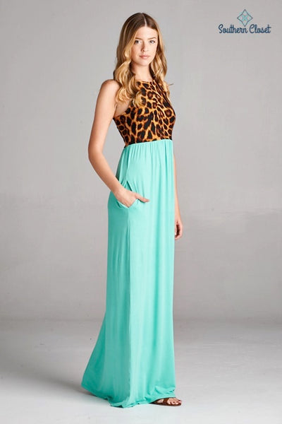 Annie Maxi Leopard Dress